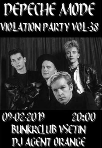 Plagát: Depeche Mode Violation party vol.38