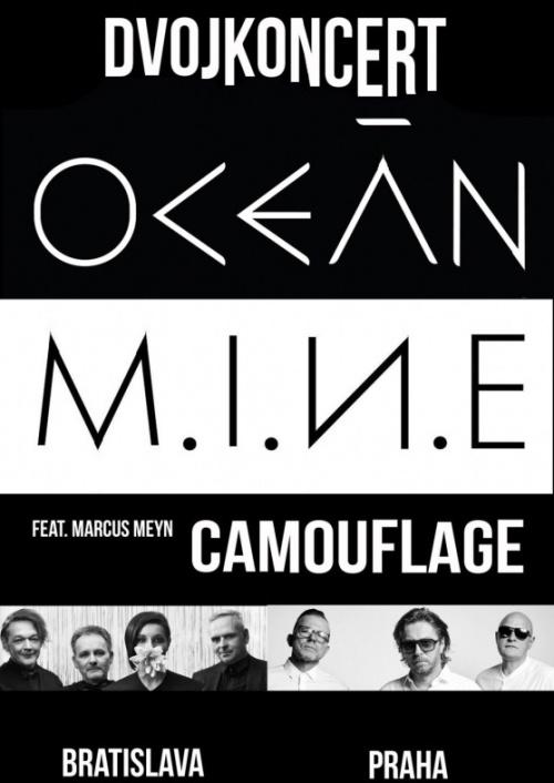 Praha 3: Dvojkoncert OCEÁN a MINE feat.Marcus Meyn (Camouflage)