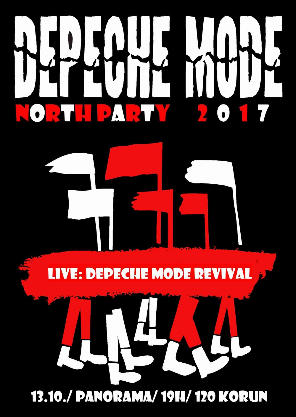 Plagát: Depeche mode North Party