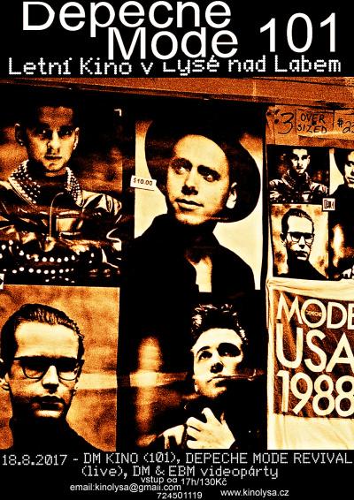 Plagát: Depeche Mode 101 Party (letní kino)