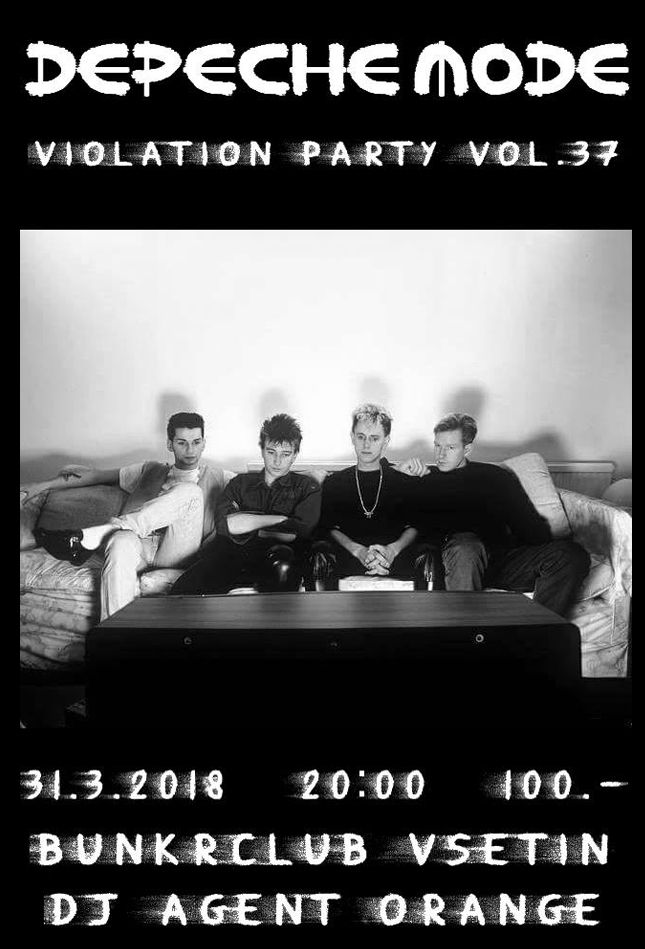 Plagát: Depeche Mode Violation party vol.37