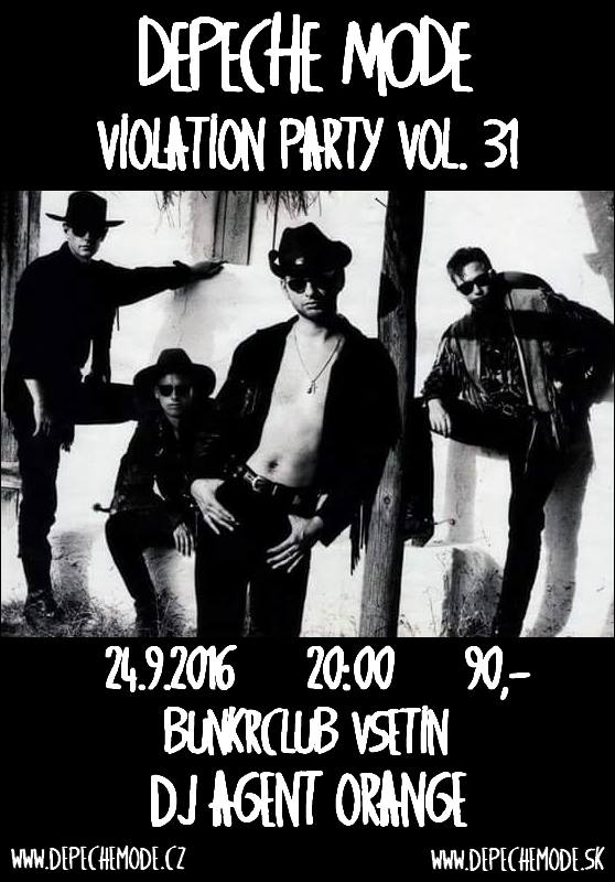 Plagát: Depeche Mode Violation party vol.29