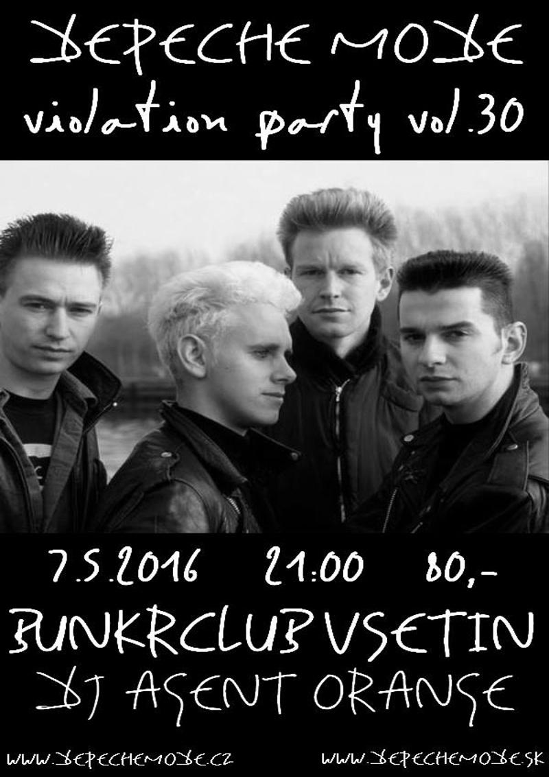 Plagát: Depeche Mode Violation party vol.30