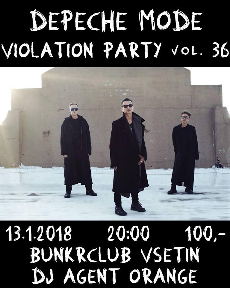Plagát: Depeche Mode Violation party vol.36