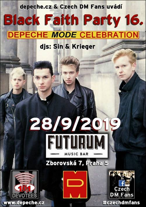 Praha 5: Depeche Mode Black Faith Party 16.